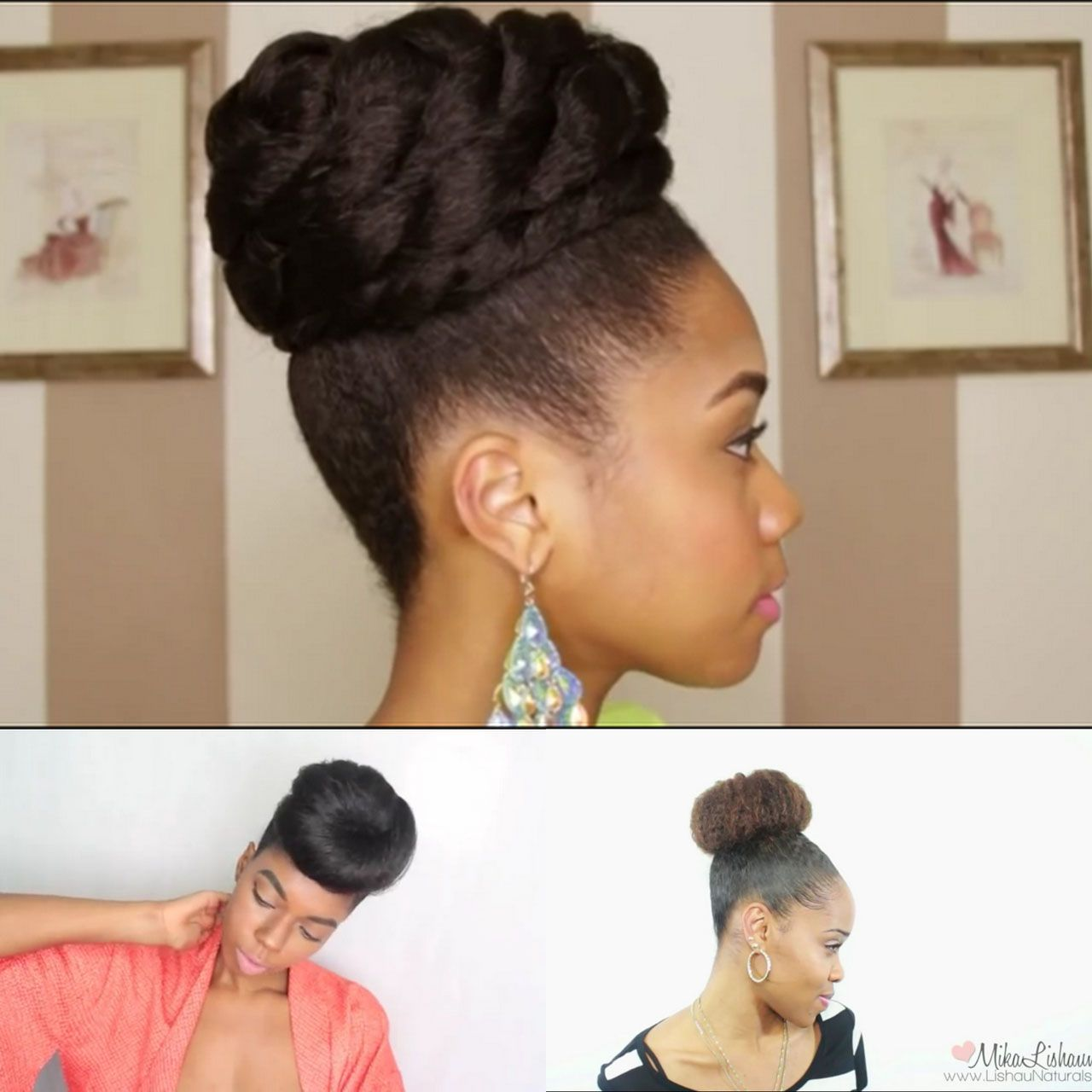 4 Simple Faux Bun Styles For Any Natural Hair Length Mongolian