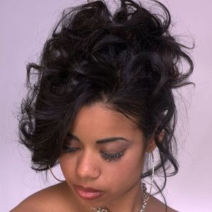 Black Curly Updo Hairstyles African American Curly Updo