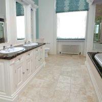 ivory travertine tile bathroom - Google Search | Bathroom ...