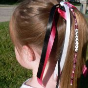 hair tie ponytail holder bow personalized