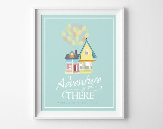 Disney up wedding adventure is out there greatest wall art with carl and ellie  house balloons to paradise falls also personalized home decor inspired by pixar movie rh pinterest