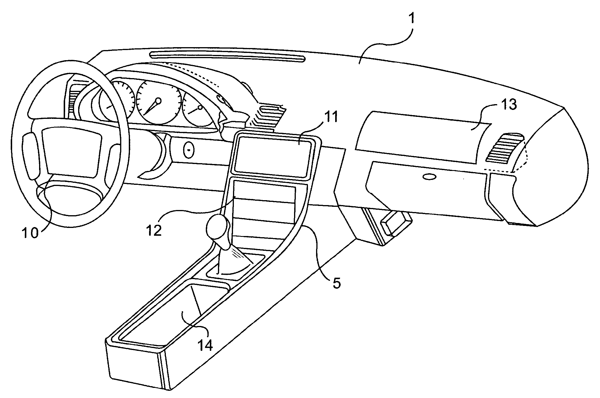 Drawing Of Car Dashboard
