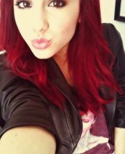 ariana grande. hair color