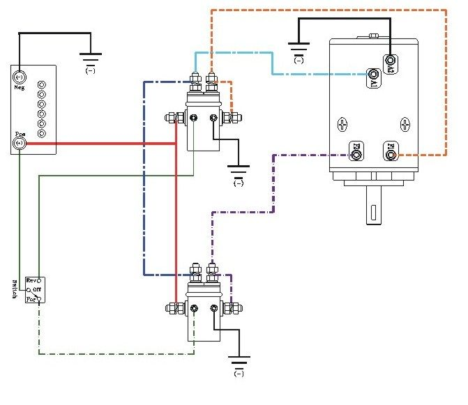Winch Wiring Diagram Automanualparts Com Winch Wiring