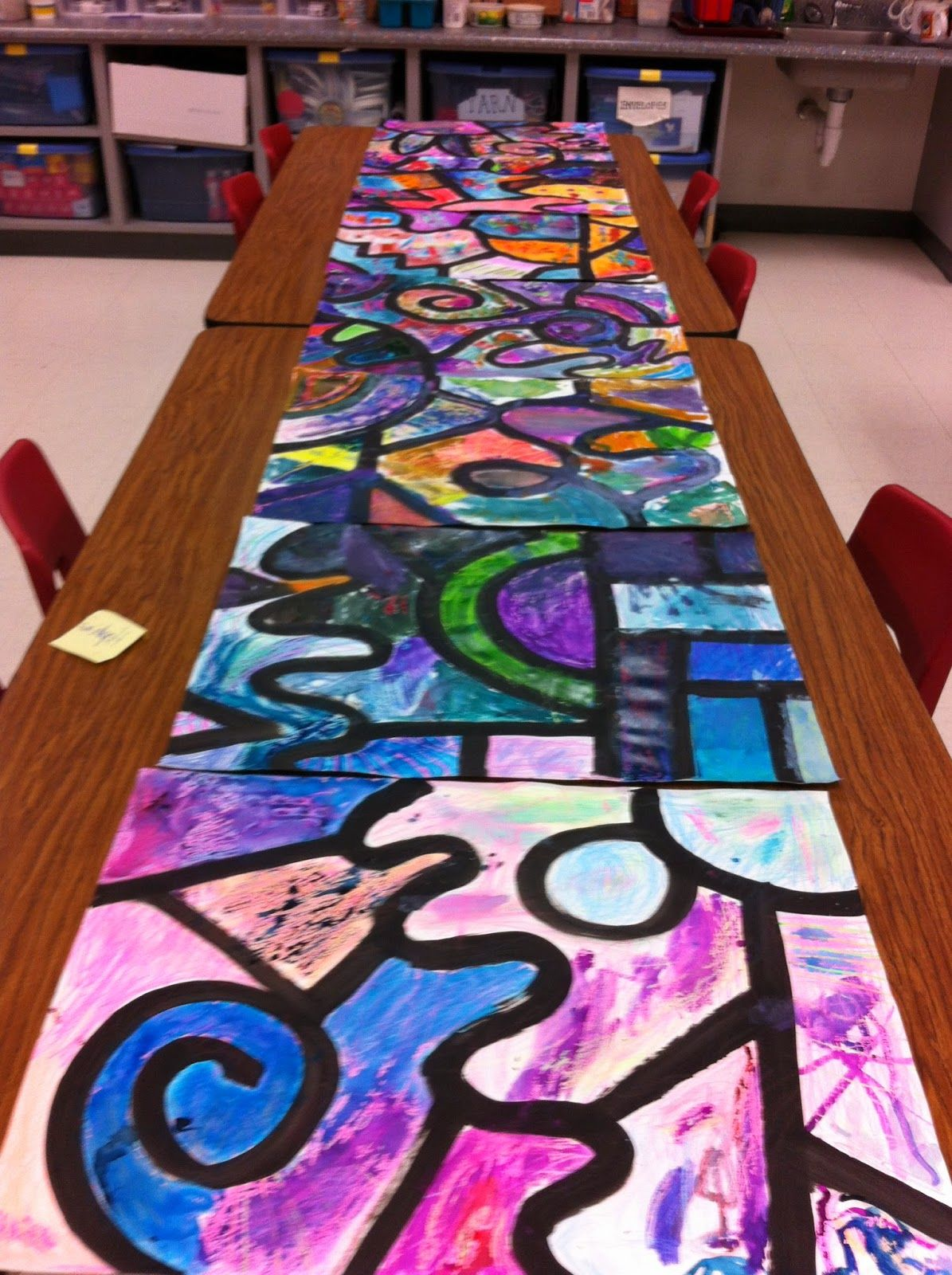 Collaborative Kinder Watercolor Resist Painting Problem