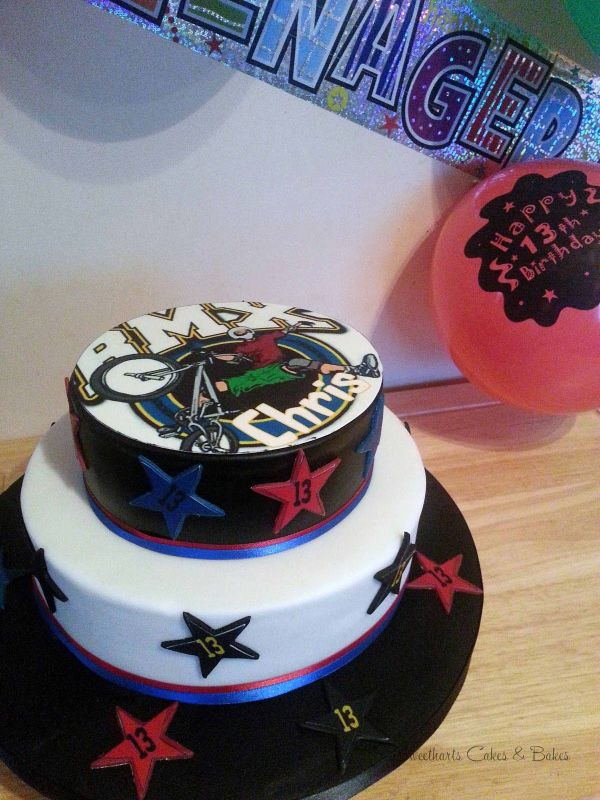 BMX Theme Birthday Cake