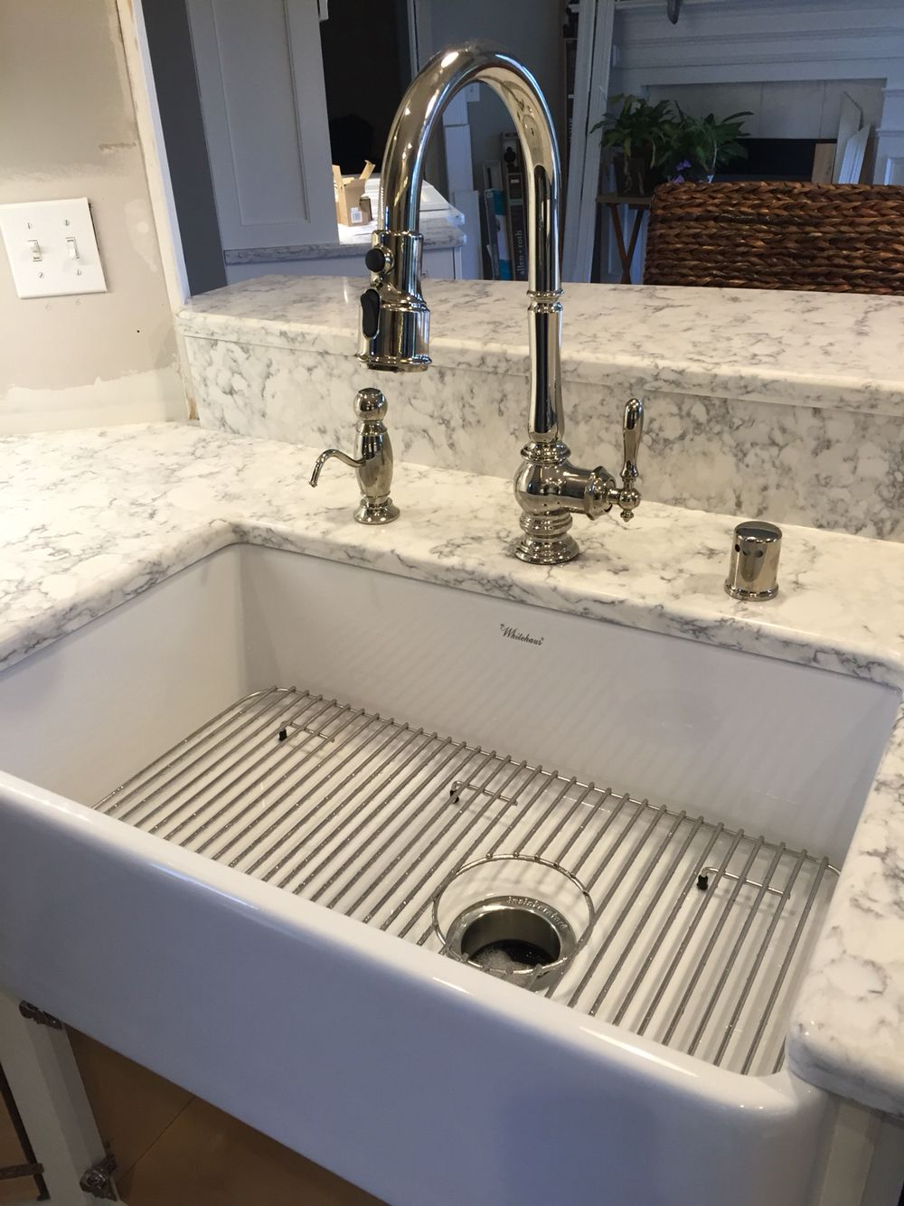 lowes kitchen appliances ella's stage 1 kohler artifacts faucet w/ whitehaus farmhouse sink | mom ...