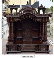 Code 99 Wooden Carved Teakwood Temple Mandir Wooden Temple