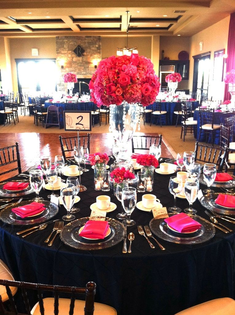 Pink and Navy Wedding  Reception Site  Pinterest  Navy