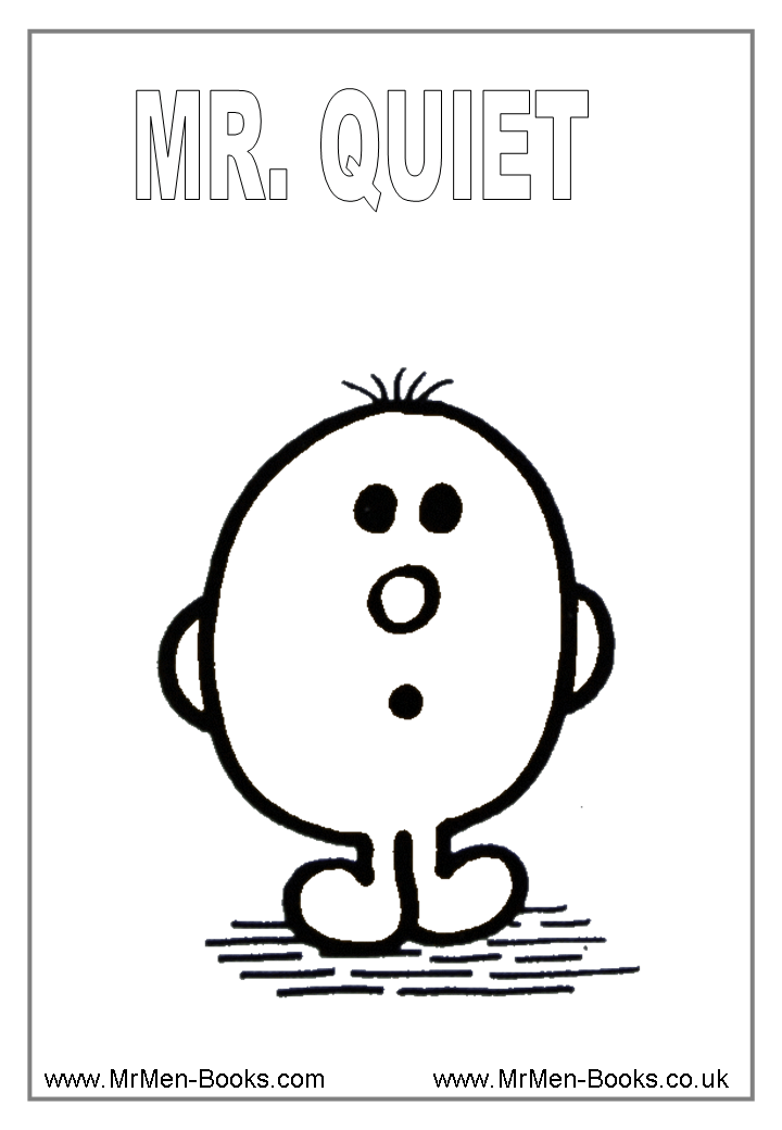 Mr-Quiet-Colouring-Page. Free printables. Great for social