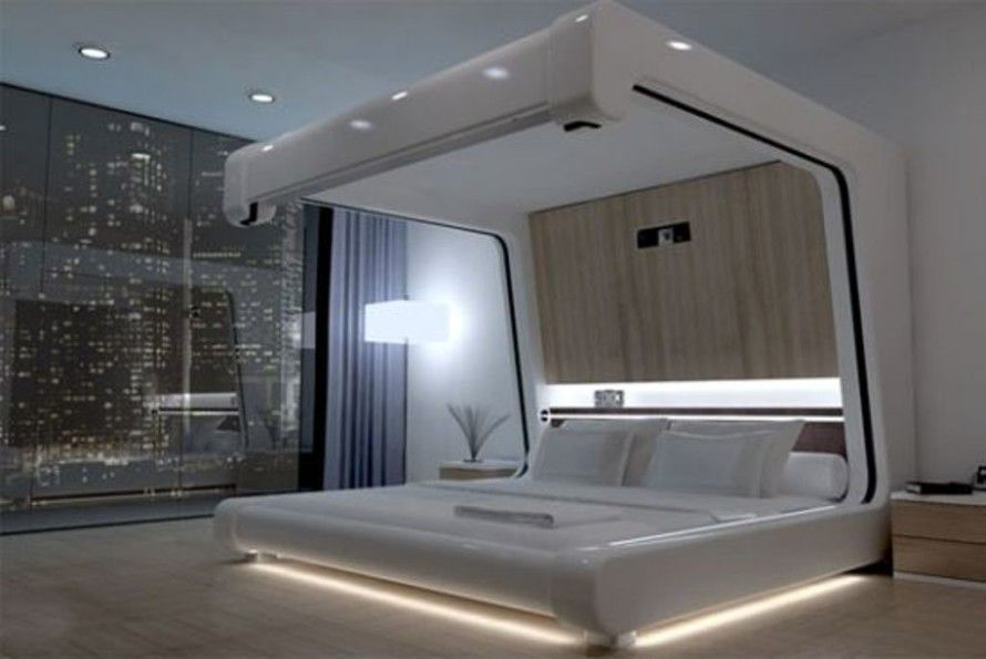 Futuristic Bedroom Hightech House Designs Over Ingenious