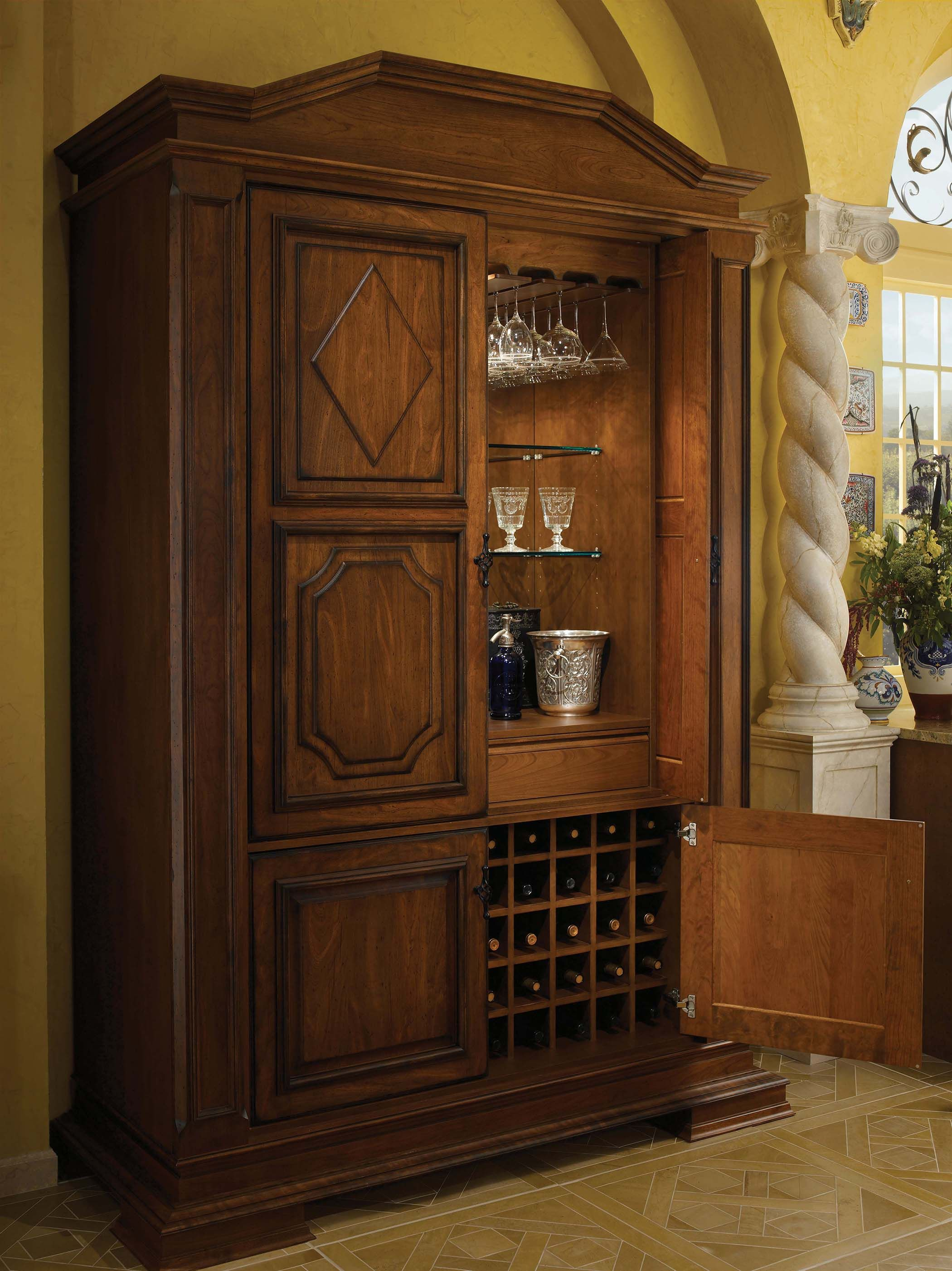wood mode kitchen cabinets chair cushions tall bar cabinet by shown in antique sienna