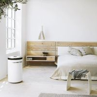 Wooden headboard with built in nightstand. Only not so ...