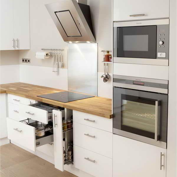 Meuble Cuisine Blanc Laque Ikea Plus