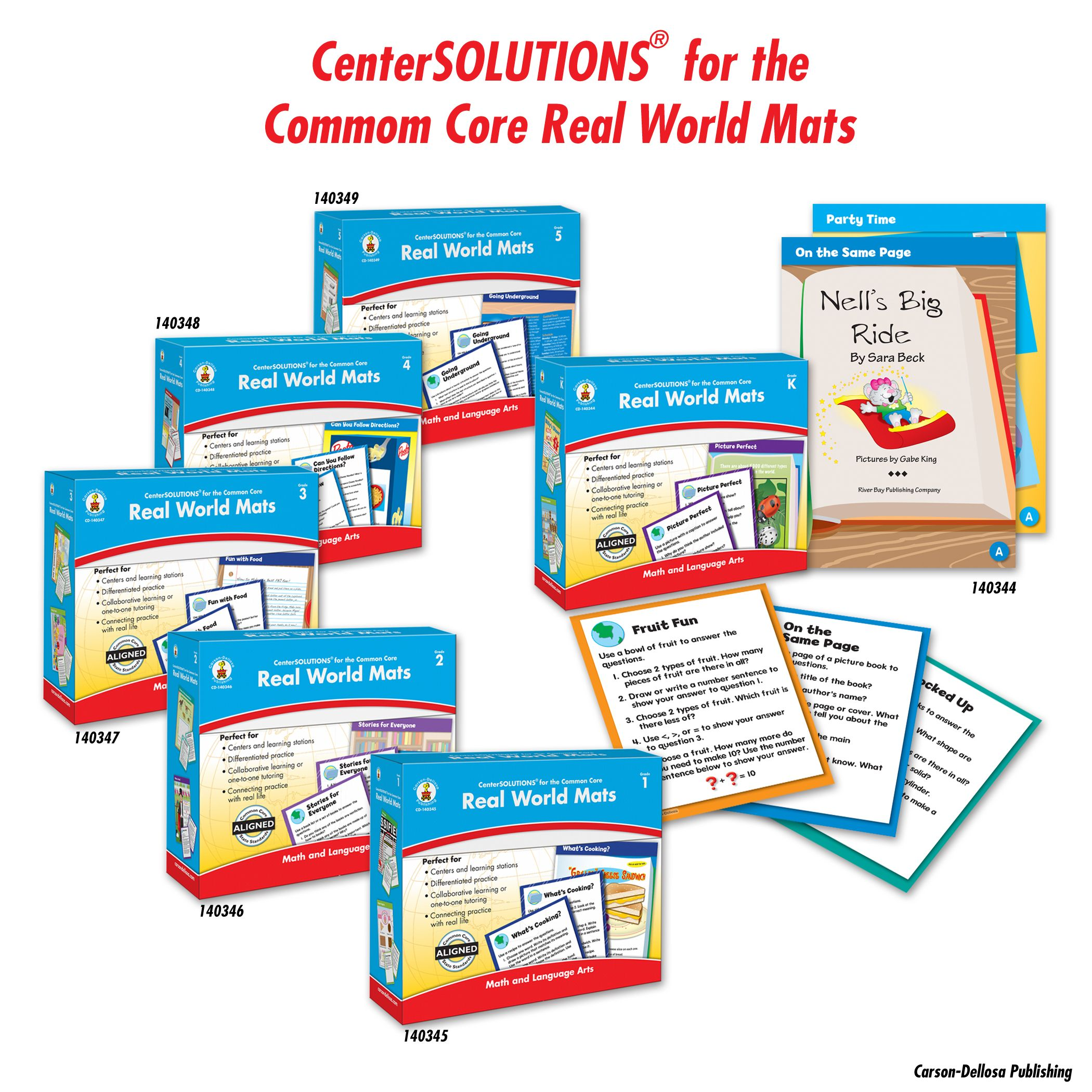 The Real World Mats Centersolutions For The Common Core