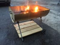 55 gal drum grill - fire pit . Plus some wood and a cheap ...