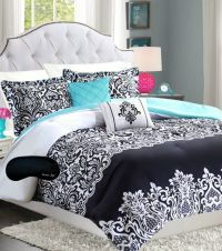 Black Pinch Pleat Comforter Set