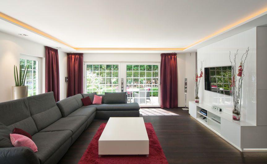 Abgehngte Decken und Vorhnge  Wohnzimmer  Pinterest