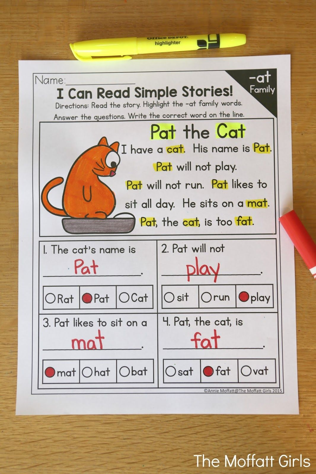 I Can Read Simple Stories With Cvc Word Families Read The
