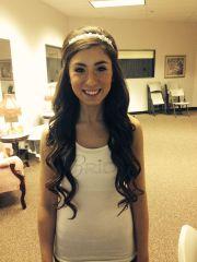 with headband wedding