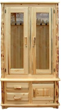 Unfinished Hand-Peeled Rustic Gun Cabinet | Home--Rustic ...