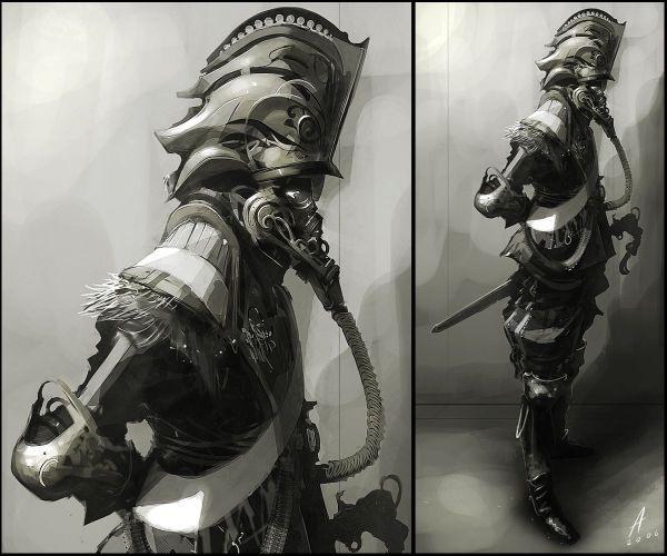 Dieselpunk Steampunk Art Captain