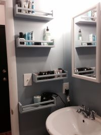 Ikea Bekvam spice racks as bathroom storage. | Apt ...