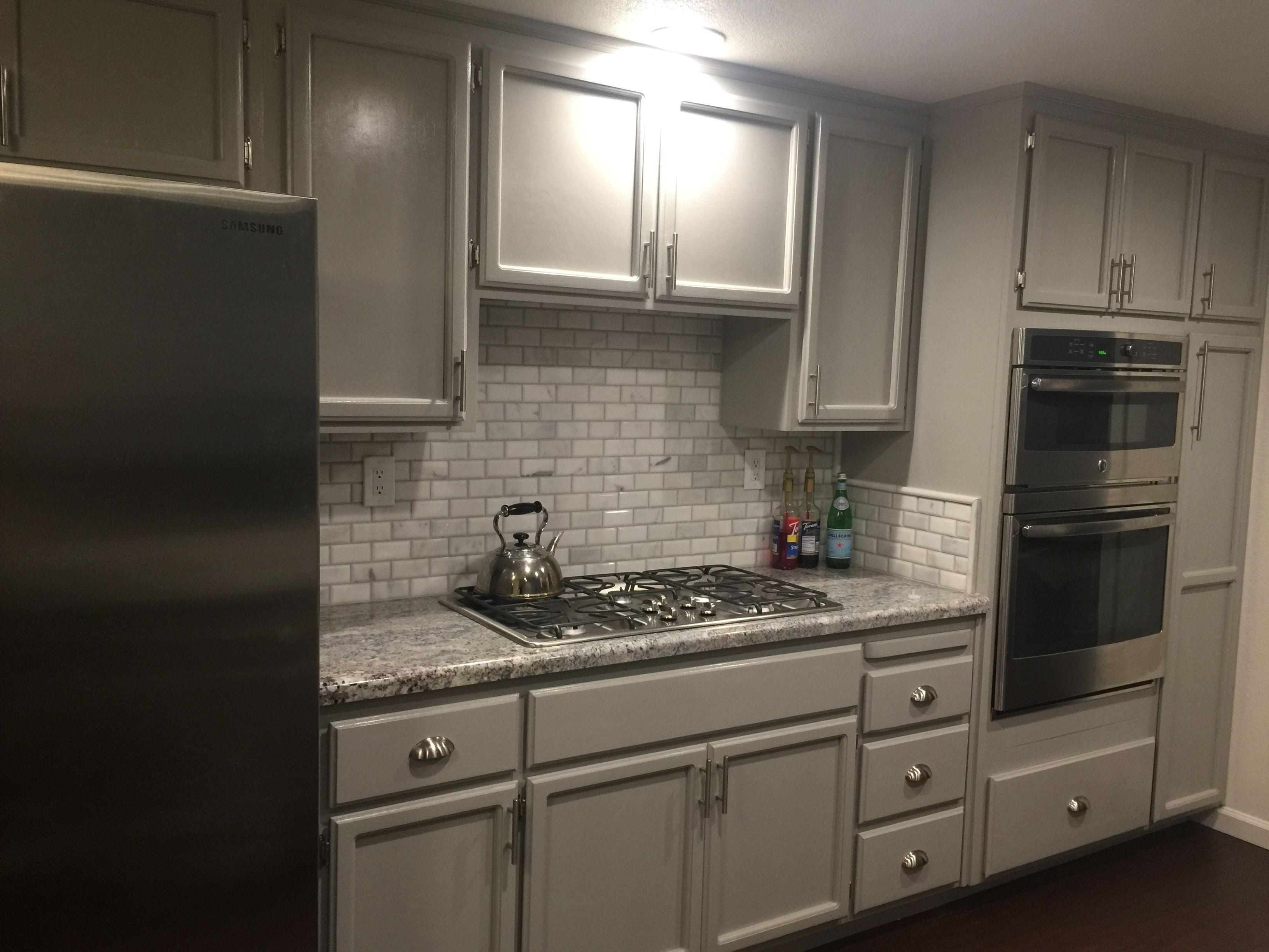 Monte Cristo Granite Marble backsplash tiles and grey
