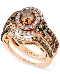 Le Vian 14k Strawberry Gold Bridal Set, Chocolate ...