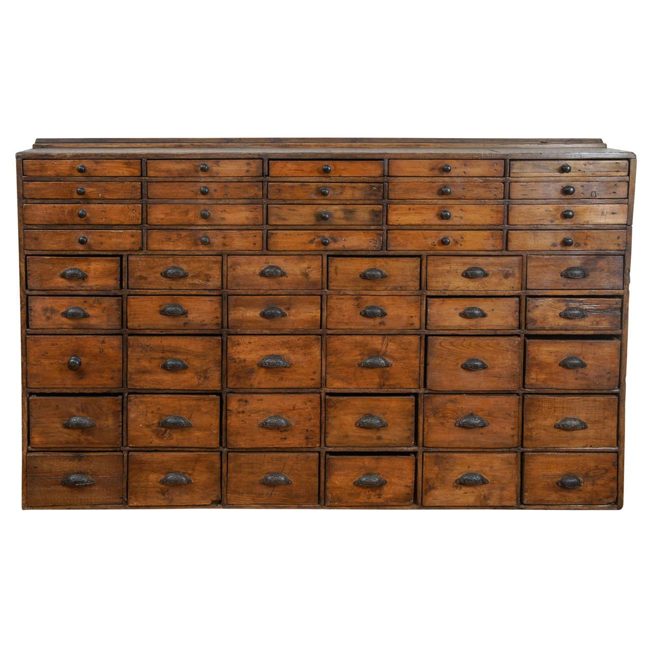 50 Drawer Pharmacy Apothecary  Apothecary cabinet