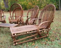 chairs and chaise loungers made with willow trees | DIY ...