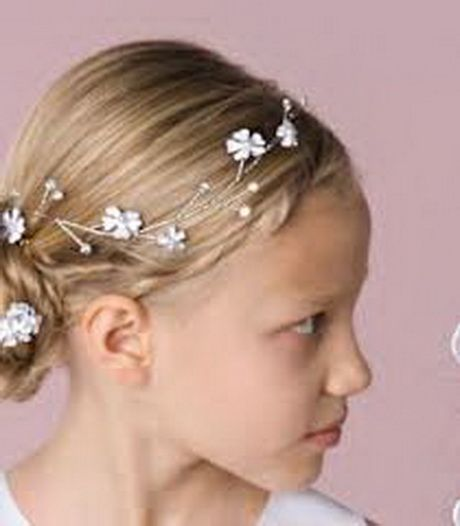 Simple And Pretty First Communion Hairstyle First Communion