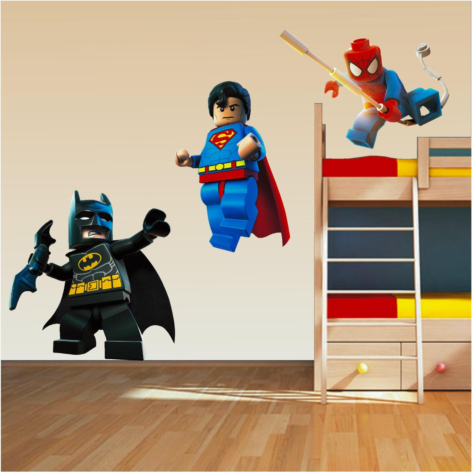 lego marvel super heroes decal removable wall sticker decor art