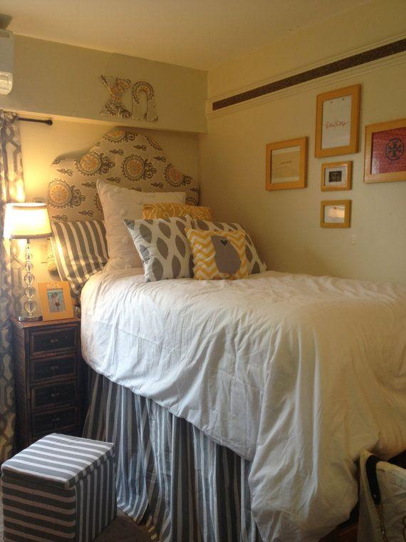 Custom dorm room bed skirts panels dust ruffles by
