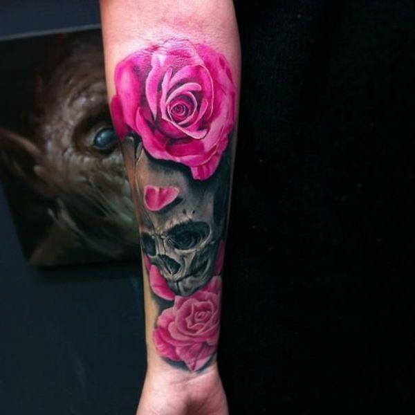 pretty skull tattoos ideas