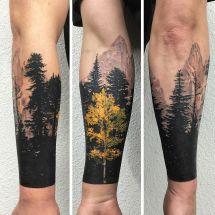 Aspen Tree Leaf Tattoo Exploring Mars