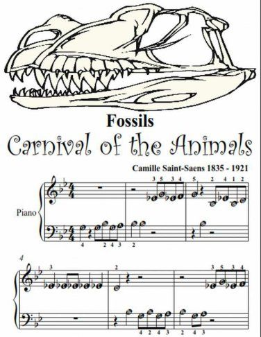 Fossils Carnival of the Animals Beginner Tots Piano Sheet