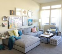 Eggshell Home Blog - Family Living Room. Large gray ...