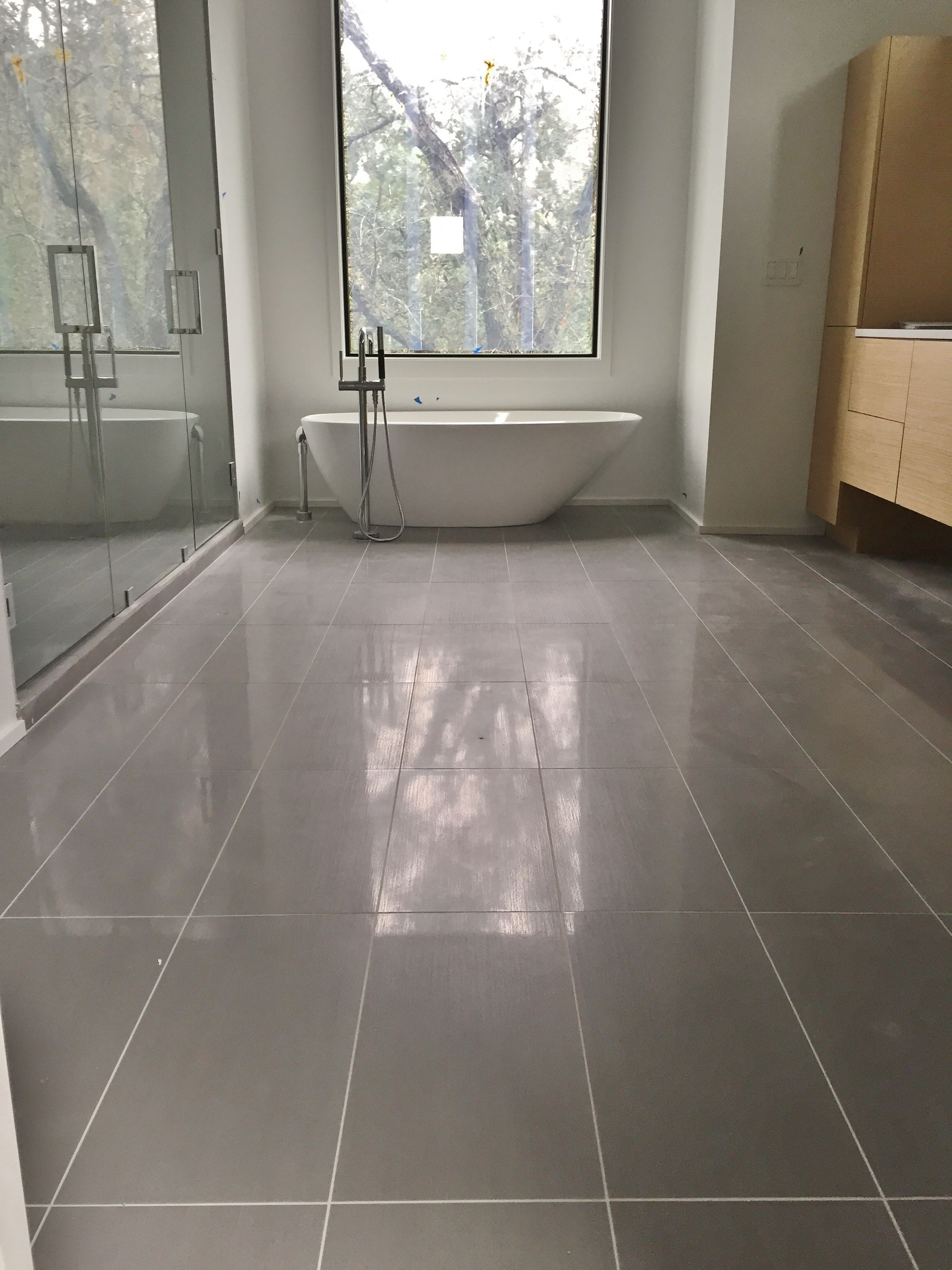 12x24 Porcelain Tile On Master Bathroom Floor  Tile Jobs