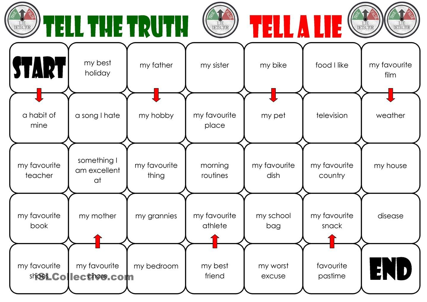 Tell The Truth Tell A Lie Board Game