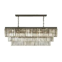 Gallery Odeon Crystal Fringe 12-light Rectangular ...