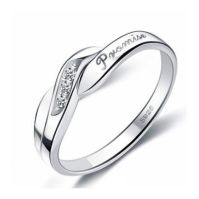 Engravable Designer Promise Ring for Her Cubic Zirconia ...