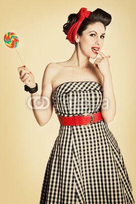Pin Up Sukienka Szukaj W Google Mood Board Lata 40' 50