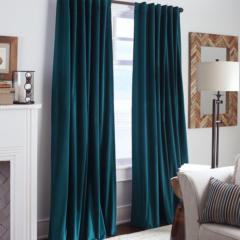 Sheridan Velvet Curtain  Ink  Pier 1 Imports  Aaa teal