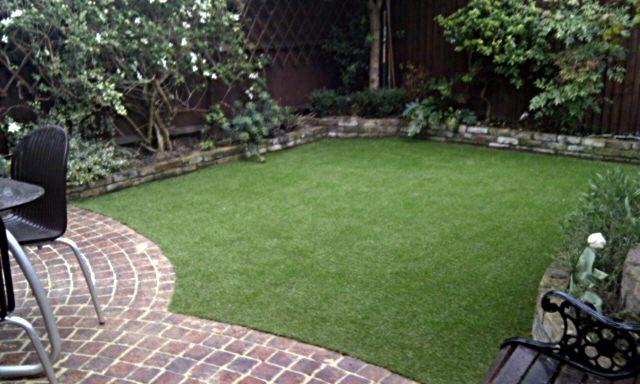 Fake Grass Lawn Easy Low Maintenance Garden Small Courtyard Patio