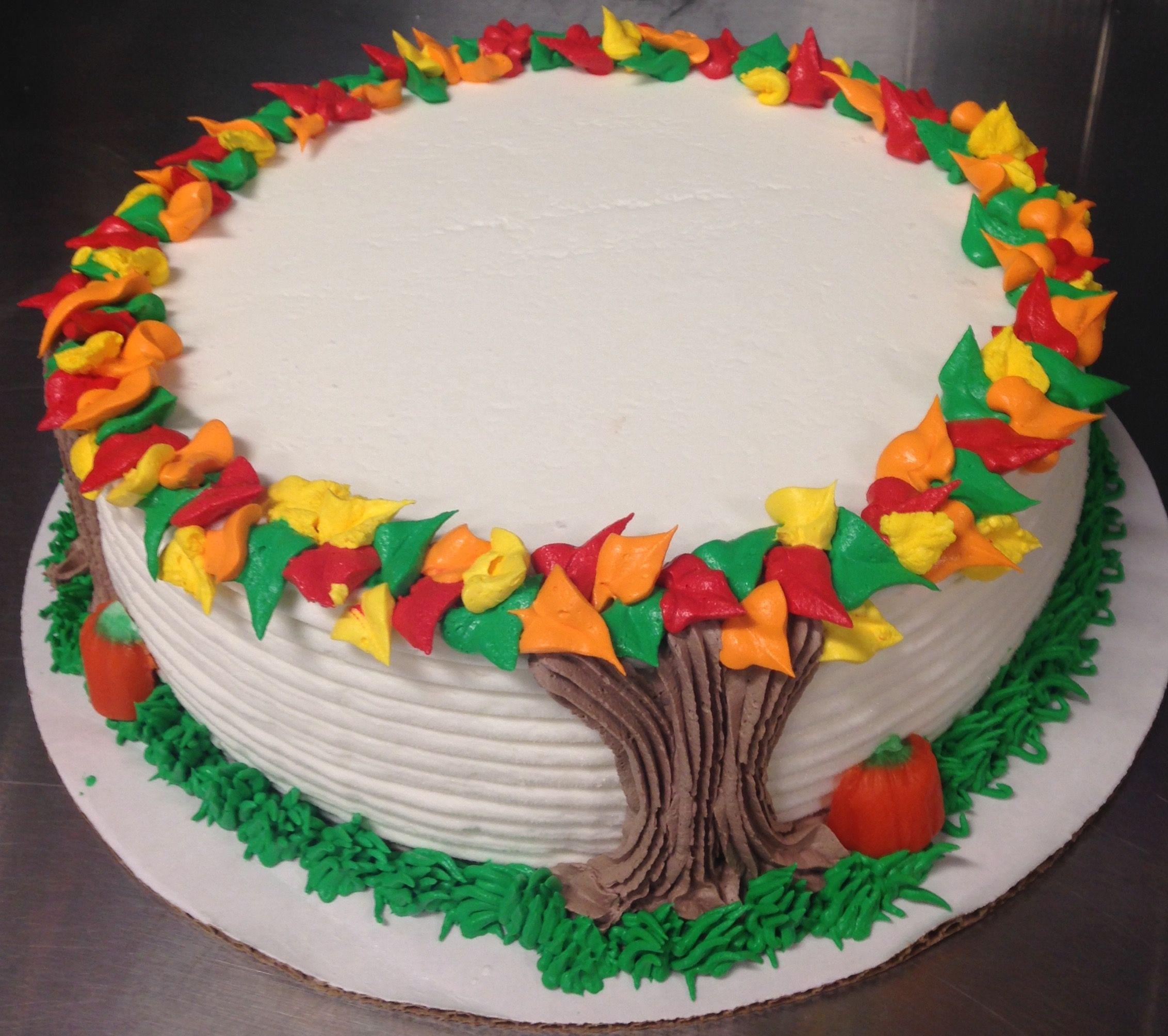 Autumn Tree Round Dq Ice Cream Cake