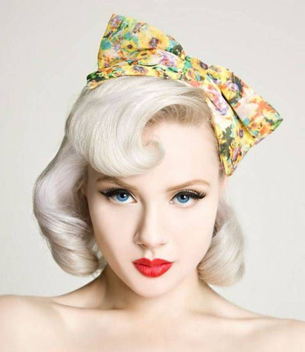Short Blonde Pin Up Girl Hairstyles Cakepins Com Vintage Hair