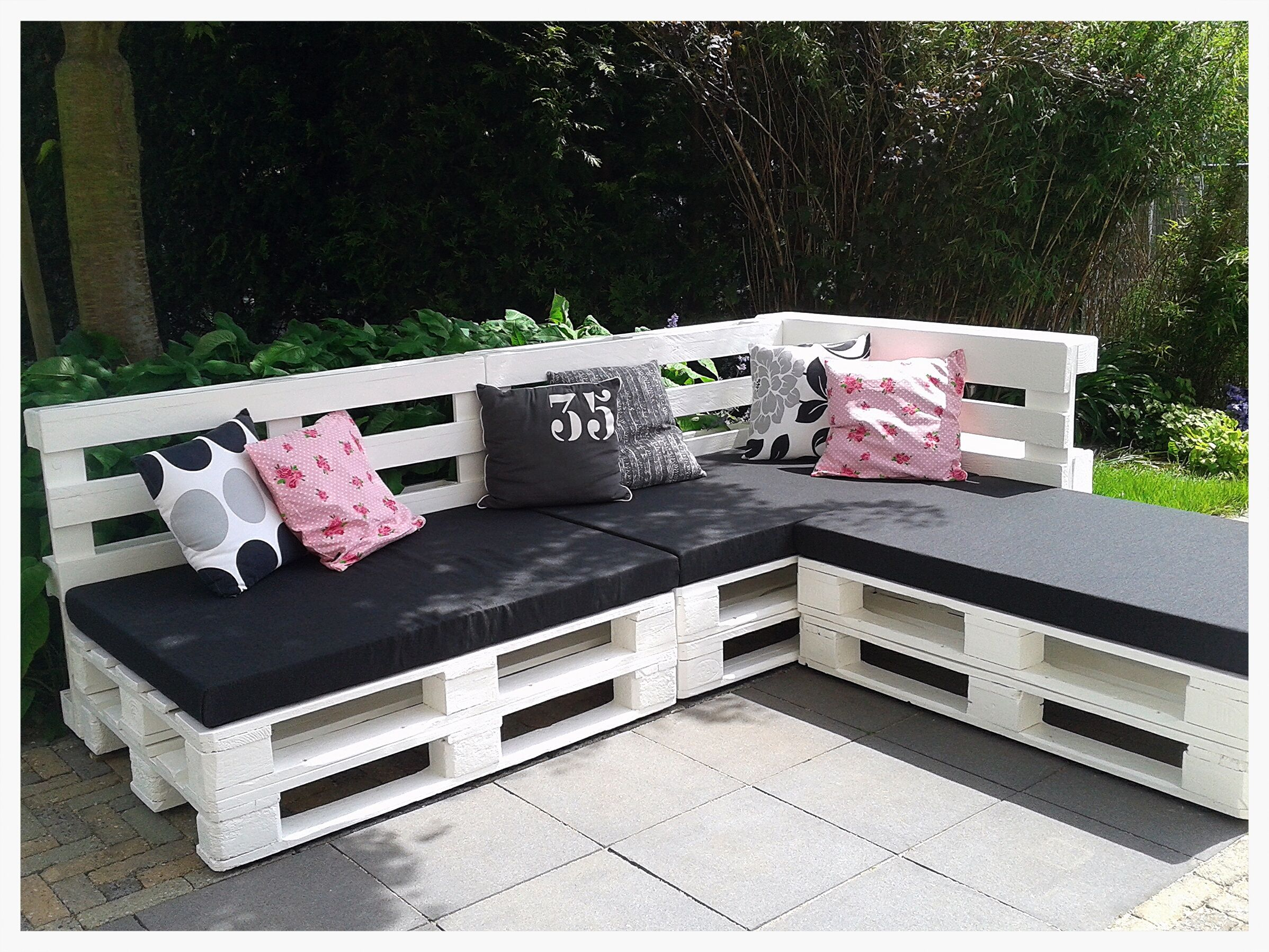 diy sofa from pallets one piece sectional our lounge made of for the home