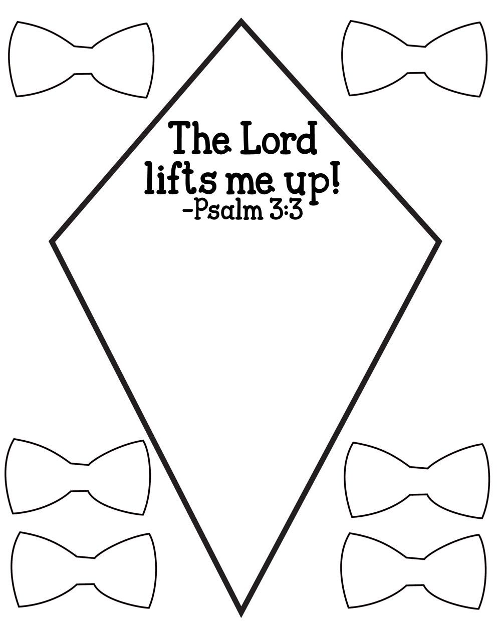 FREE Psalm 3:3 Kids Bible Lesson Activity Printables