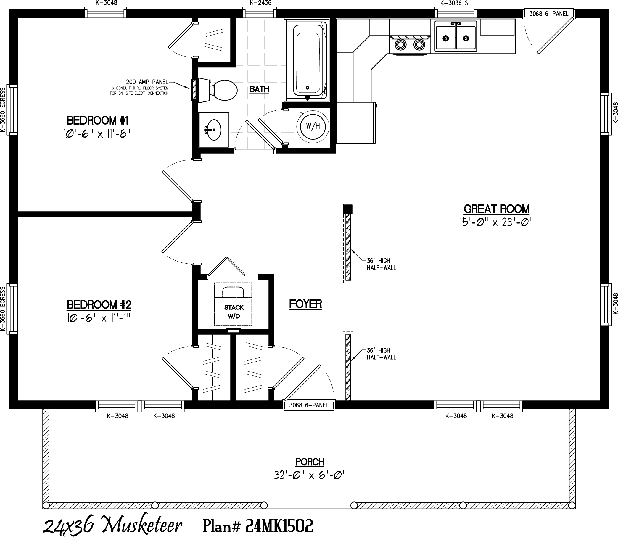 Guest House 30 X 22 Floor Layout